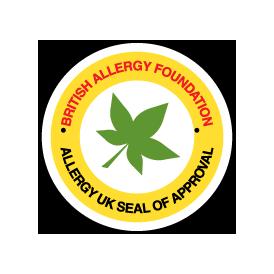 Heaks kiidetud Briti allergia sihtasutuse poolt