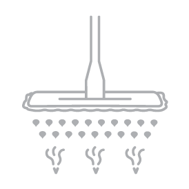 Puhastab ja desinfitseerib kuumaauruga töödeldud lapi abil